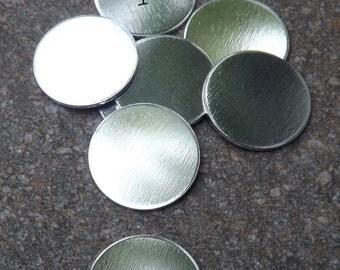 """Metal Stamping Blanks 16 Gauge Aluminum Blanks 1"""". Sold in Set of 15"""