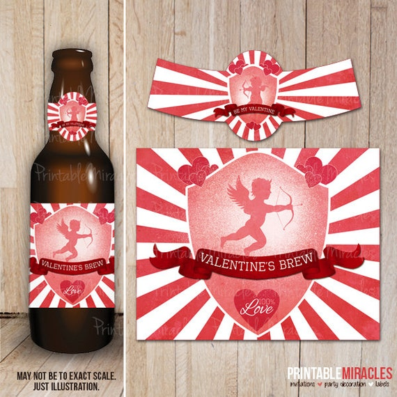 It's just a photo of Priceless Free Printable Valentine Beer Labels
