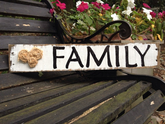 Lovely Handmade family sign made from pallets