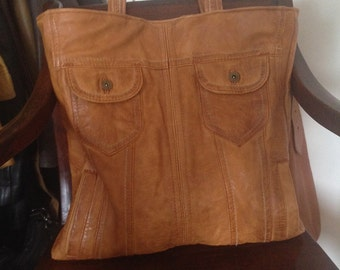 Recycled Leather Tote Bag,Large Recycled leather tote,Recycled leather,Upcycled leather bag,leather bag, leather tote,upcycled bomber jacket