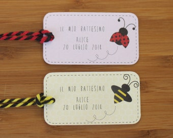 20 favour tags for baby shower, baptism, birthday party
