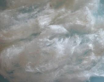 White Tussah Silk Noils