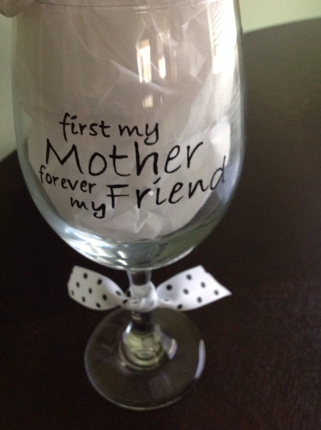 Hand Painted Wine Glass For Mom  Mothers Day-1015