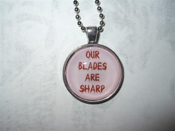 "House Bolton ""Our Blades Are Sharp"" house words pendant necklace - Game of Thrones inspired - Song of Ice and Fire, quote, simple, Dreadfort"