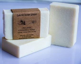 Organic Lavender Scented Castille Soap --  100% Olive Oil Soap -- (VEGAN)