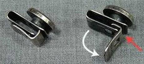 ensemble d 39 argent 6 boutons clips bretelles bouton de. Black Bedroom Furniture Sets. Home Design Ideas
