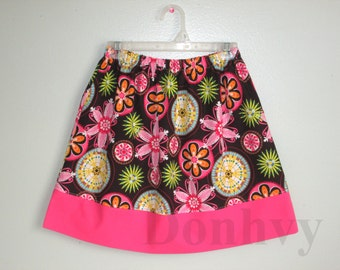 Girl's Flower Skirt. Pink Flower Skirts for Kids. Children Skirt in All Sizes: 6 Months_8