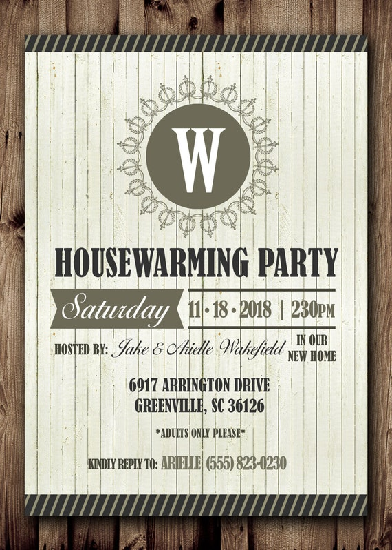 Eloquent image for printable housewarming invitation