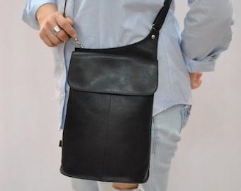 Vintage HANDMADE leather bag , leather backpack , cross body bag...