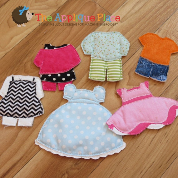 Dress up doll gown paperless unpaper cloth outfit
