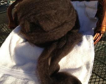 Roving - Black Romney wool for Spinning or Felting