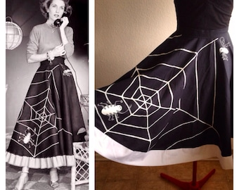 Vintage inspired Spider and Fly circle skirt.