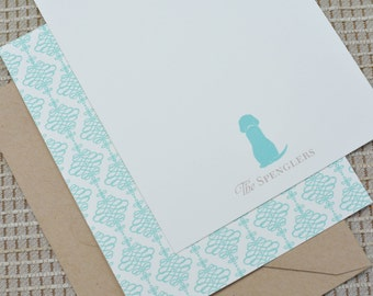 Dog Personalized Flat Notecards