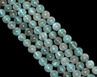 5mm-6mm Green Apatite Gemstone Grade A Round 5mm-6mm Loose Beads 15.5 inch Full Strand (90142971-142)