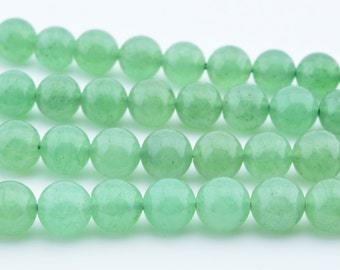 "15.5""   Green  Aventurine  Round  Beads  8mm"