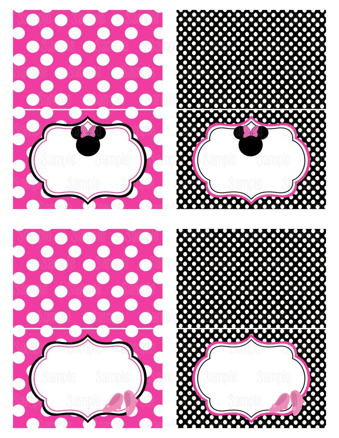 It's just a photo of Refreshing Minnie Mouse Free Printables