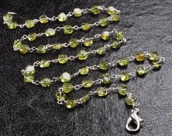 Coin Peridot Necklace