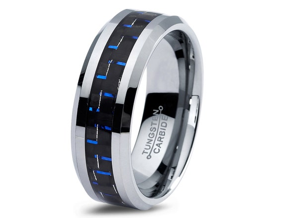 Mens Tungsten Carbide Wedding Band Ring 8mm 5 15 By