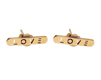 18K Gold Love Earrings