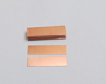 3/8  X 1 1/2  - Copper - 22 G -  rectangle blanks- Hand stamping bracelet and ring supplies - copper blanks - ring supplies