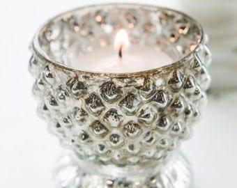 Mercury Glass Candle Holder, Votive, Vase