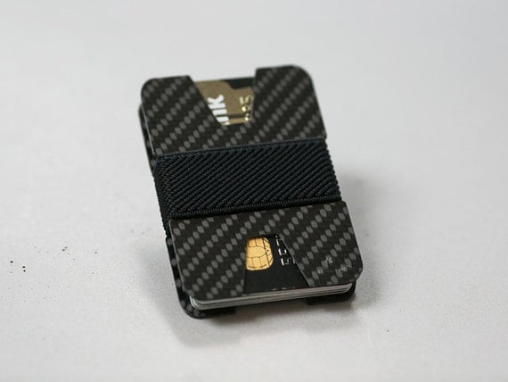 Items similar to Slim wallet business card holder carbon