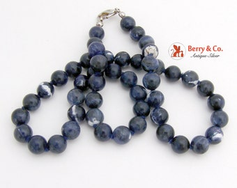 Vintage Sodalite Bead Necklace