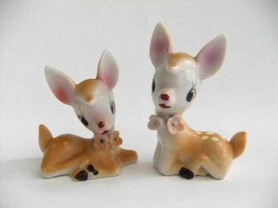 Vintage Deer Salt And Pepper Shakers Salt And Pepper Shakers Deer