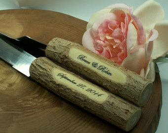 Wedding Cake Server,Wedding Cake Server And Knife Set - Country Rustic Chic Wedding