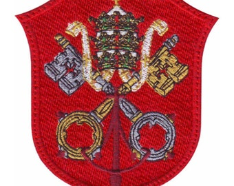 Vatican Shield Flag Embroidered  Patch