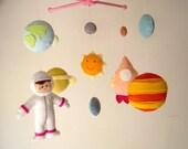 "Baby crib mobile, astronaut mobile, space mobile, universe mobile, nursery mobile ""Planet"""