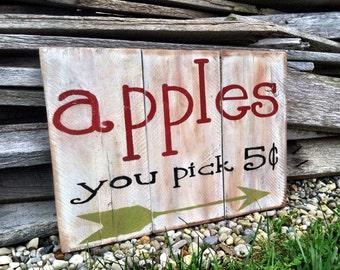 Fall Sign /  Fall Decor /  Apple Sign /  Apple Decor /  Apples /  Home Decor / Fall Apple Sign / Fall Sign Outdoors / Harvest Decorations