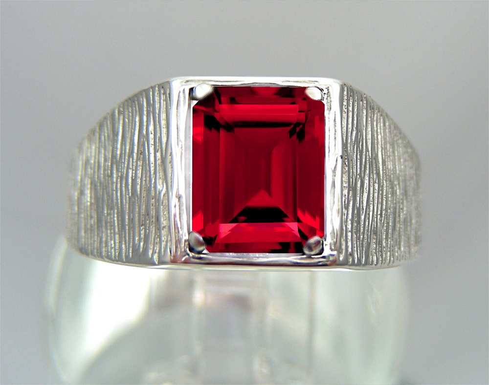 Ruby Wedding Gifts For Men: GIFTS FOR MEN Ruby Mens Ring For Men Ruby By