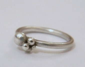 Silver Granulated ring.