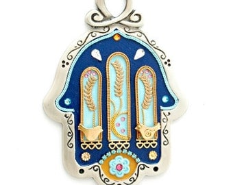 Wall Hamsa Hand with Doves by Ester Shahaf