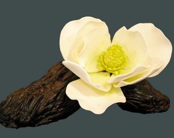 cake topper magnolias, gum paste magnolias, sugar magnolias, fondant magnolias