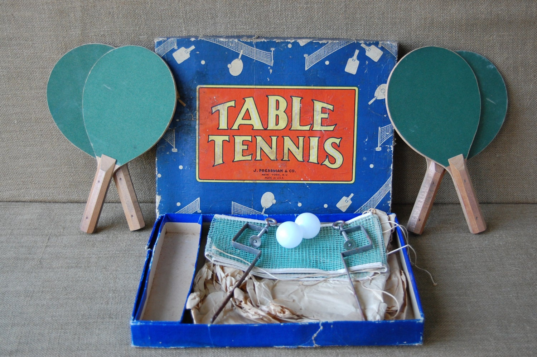 Vintage Table Tennis Game Ping Pong Game Mini Lawn Tennis