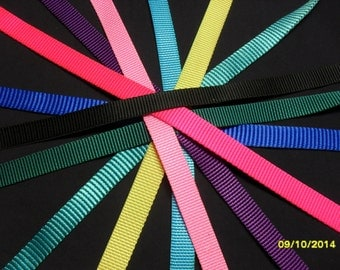 5 yards 5/8 inch nylon webbing colorful choices for crafts and household use