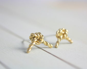 Sterling silver knot  earrings, silver rope earrings, knot earrings, gold earrings, statement earrings, earrings, summer, jewelry, gift