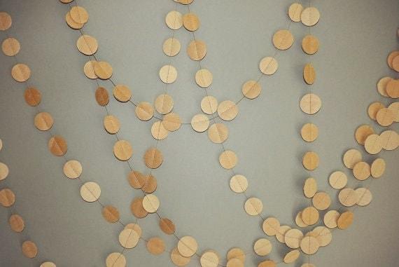 Circle Paper Garland / Party paper garland / Autumn garland /  Wedding Garland