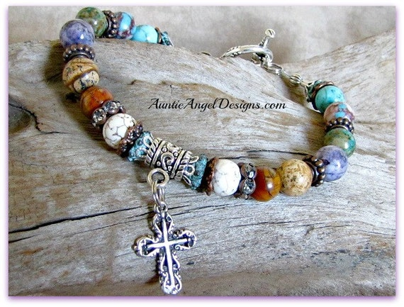 Religious Bracelets; Faith Jewelry; Faith Beaded Bracelet; I Believe in God Bracelet; Christianity Gifts; Mission for God Jewelry