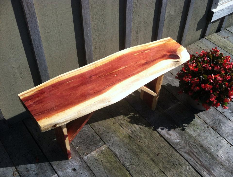 Custom order Beautiful Cedar Wood Bench Handmade