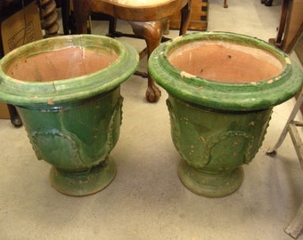 Antique French Provance Planting Urns(Pair)