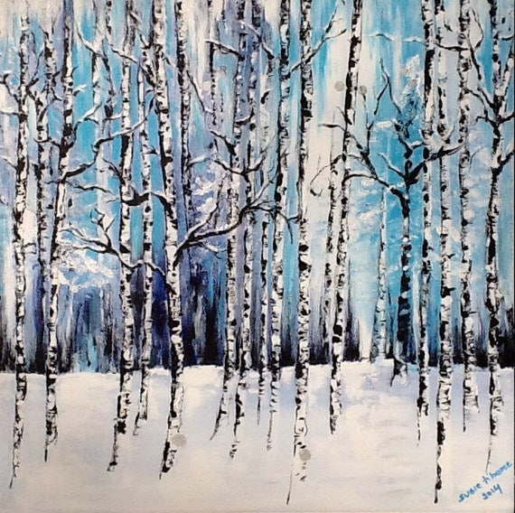 Tree Painting Trees Painting Winter