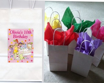 Sleepover party favor goody bags personalized set of 10