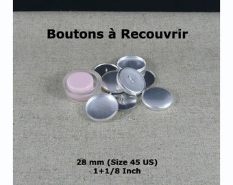 Pack of 5 cover buttons (Size 45) + Tool