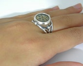 Ancient coin jewelry-Ancient coin ring-Widow's mite coin-925 sterling silver.