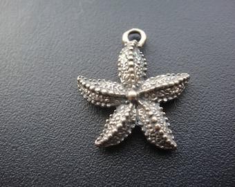 Solid bronze starfish charm 1 pc., bronze starfish charm,starfish, bronze starfish, sea life