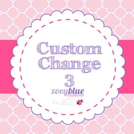 Custom Order Change Fee 3 Digital Add-On
