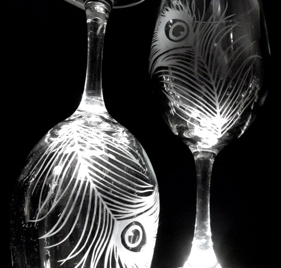 like this item - Etched Wine Glasses